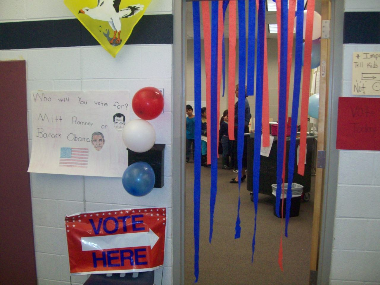 Room 219 was decorated to welcome K-third grade students as they came ...