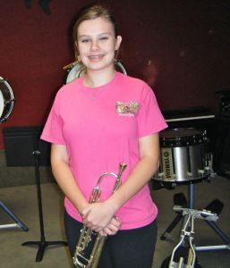 DHS Freshman, Jordyn Mader, was selected to perform with this year's Georgia All State Band in Savannah.