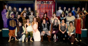 "The cast and crew of the Dalton High 2012 One-Act Competition Play ""Pippin"" performed for a sold-out audience of high school thespians at the Columbus State Proscenium Theatre as part of the 2013 Georgia Thespians Conference. The show was chosen from among more than 30 entries to perform at the conference, and DHS cast and crew members received a standing ovation from their peers for their performance."