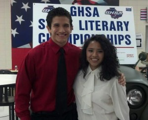 Abraham Ocana and Suzie Martinez both placed first at the region 7-4A literary competition and third in the state.