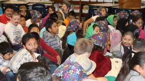 Students were jammed into one classroom to recreate the feeling of those coming to Ellis Island.