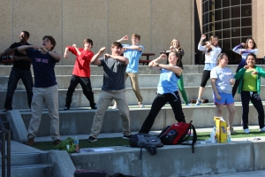Dalton High students dance for 30 minutes as part of Power up for 30.