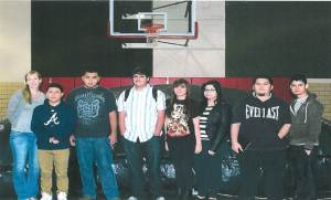 Shown with Mrs Lindsay Bearden (left) are students who worked on the planetarium including Jesus Becerra, Miguel Jacobo, Chandler Bunch, Lizeth Pimentel, Guatalupe Sanchez, Leonardo Chicas, Jonathan Espinoza. Not pictured are Markeece Suggs, Jonathan Griggs, Patricia Garcia, Kennedy Leonard, and Moises Martinez.