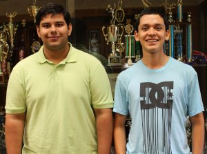 Albert Adhya and Jesus Cortez attended Boys State in Gainesville.