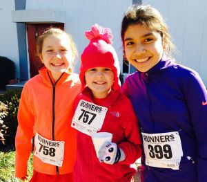 Westwood School students Addie Simmons, Esme Miller and Ariana Avila participated in the 2nd annual Peter's Free-Wheelin' 5K, a fundraiser that benefits St. Mark's Episcopal Preschool Program.