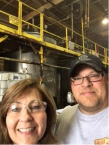 Dalton High teacher Barbara Brayford works with Phoenix Chemical shipping manager Richard Davis to learn how the chemicals get to their final destination.